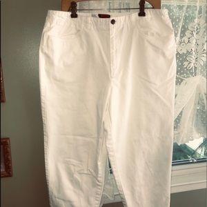Talbots white denim size 16